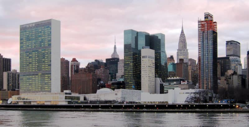 UN Headquarters in New York.  Credit: Wikicommons/Neptuul (CC)